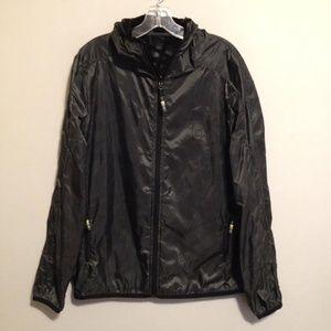 New Puma Gray Black Hoodie Windbreaker Jacket